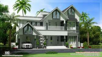 Stunning Villa House Designs Photos by Beautiful Sloping Roof Villa Design Kerala Home