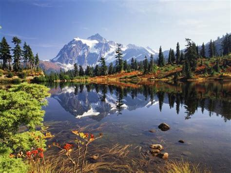 Mt Shuksan With Picture Lake, Mt Baker National Recreation