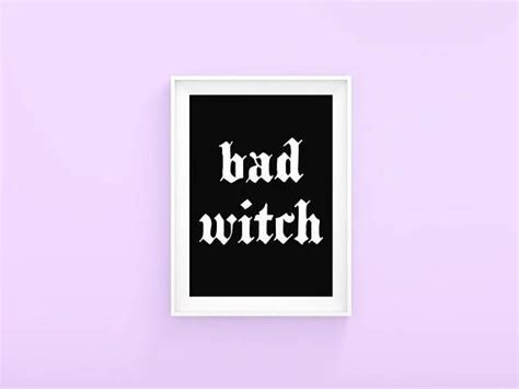 witch aesthetic print bad witch sign dark aesthetic