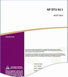 Dtu 20 1 : dtu 64 1 assainissement non collectif r sum gratuit ~ Premium-room.com Idées de Décoration