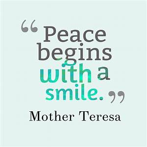 30 Best Peace Q... Peace And Smile Quotes