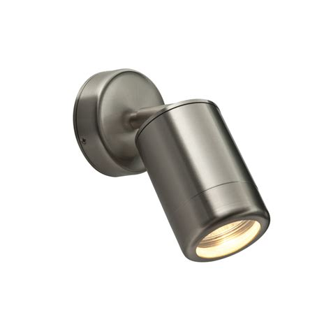 saxby st5010s odyssey ip65 1 light steel gu10 wall fitting
