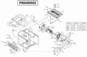 Powermate Formerly Coleman Pm0495502 Parts Diagram For Generator Parts