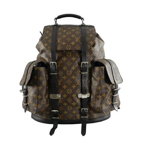louis vuitton monogram christopher backpack  stdibs