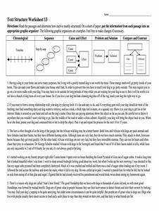 Text Structure Worksheet 13