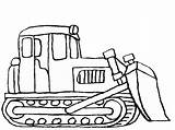 Coloring Construction Bulldozer Truck Pages Clipart Drawing Excavator Vehicles Backhoe Digger Printable Sketch Cartoon Dozer Clip Deere Cliparts John Tractor sketch template