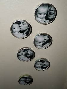 Oh, How Crafty!: Picture Magnets (made from baby food jar ...