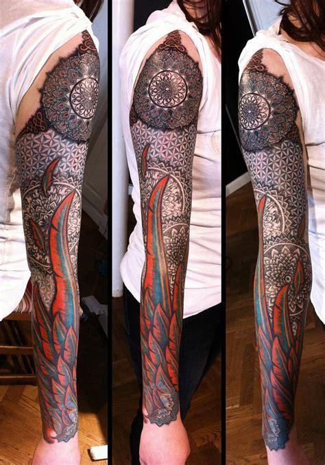 geometric tattoo sleeve ideas flawssy