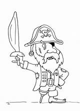 Pirate Coloring Pirates Coloriage Pages Bois Jambe Few Printable sketch template