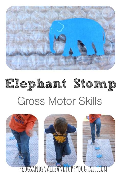 elephant stomp gross motor activity  images zoo