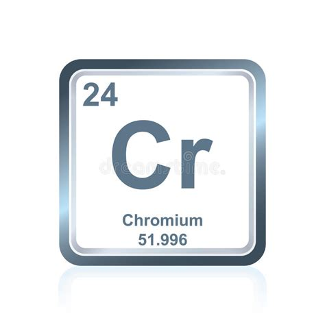 Chemical Element Chromium From The Periodic Table Stock
