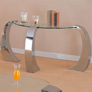 Sale 52500 custer contemporary sofa table with curved for Curved sofa table for sectional