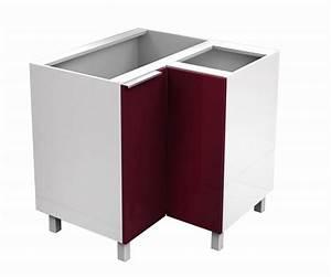 Meuble Bas D Angle Cuisine : cg8b meuble d 39 angle bas cuisine avec double porte haute brillance 82 x 82 x 83 cm flex cuisine ~ Teatrodelosmanantiales.com Idées de Décoration