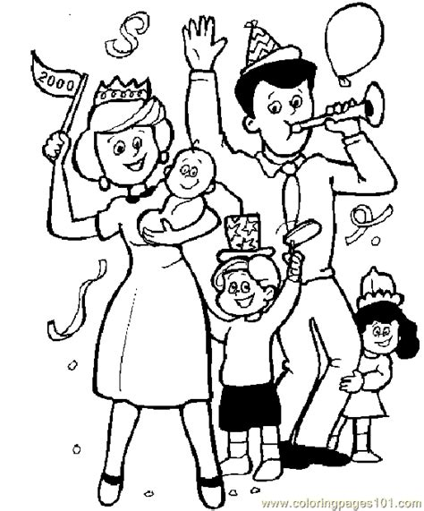 family coloring page  coloring page