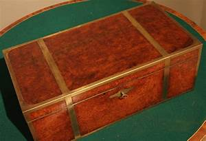 Regency Anglo Indian Brass Bound Amboyna Campaign Writing