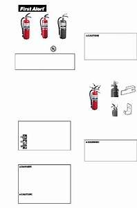First Alert Fe3a10 Fire Extinguisher Operation  U0026 User U2019s