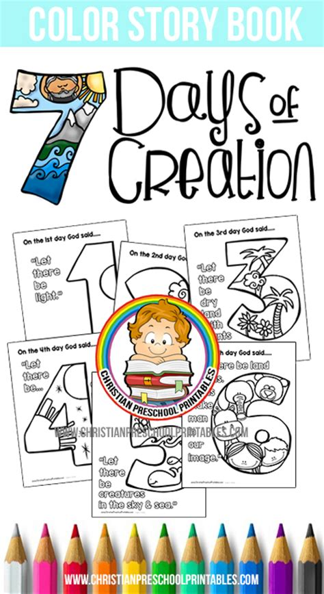 days of creation coloring pages christian preschool