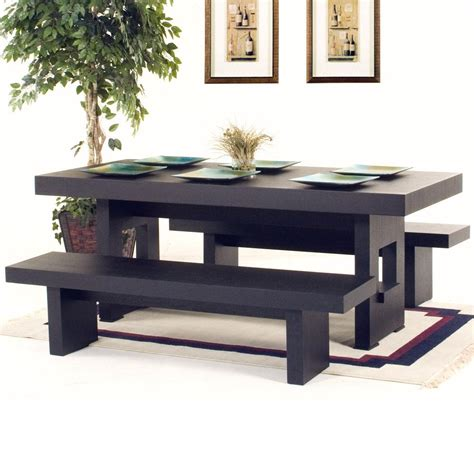 rectangle dining table   benches dining tables