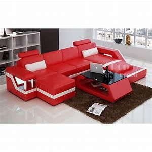 canape angle rouge With tapis de gym avec canapé d angle convertible cuir italien