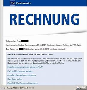 Telekom Rechnung Online Abrufen : rechnungsmails angeblich von 1und1 mit malware unterwegs ~ Themetempest.com Abrechnung