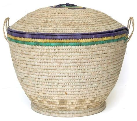 large storage basket with lid large handwoven basket her with lid