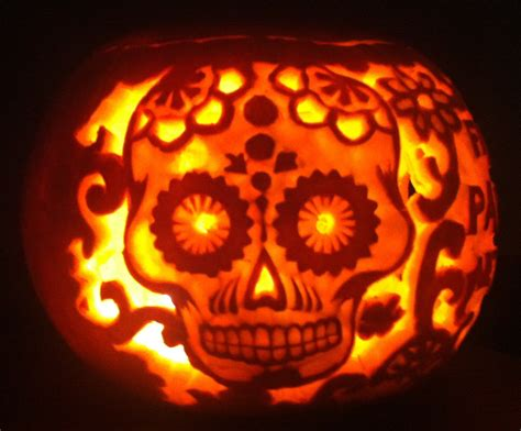 pumpkin carving ideas for day of the dead decor it s the new halloween