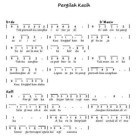 not angka pianika lagu kesempurnaan cinta not angka pianika lagu pergilah kasih d 39 masiv