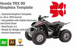 Honda Trx 90 Atv Quad Graphics Template - Artabrian U2122