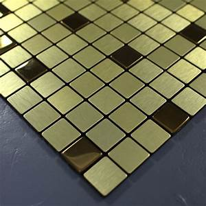 metal tile backsplash kitchen gold stainless steel tiles With metallic mosaic bathroom tiles