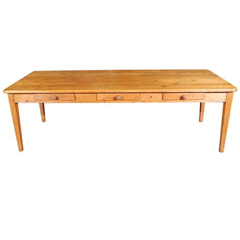 dining room table with drawers large antique pine table with drawers at 1stdibs