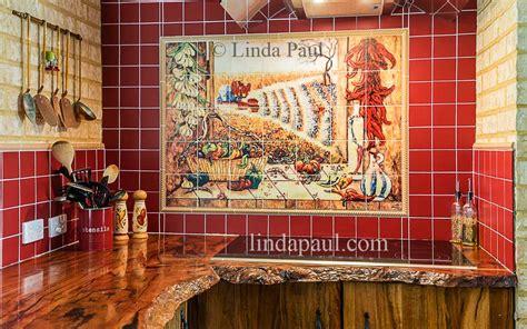 mural tiles for kitchen decor mexican tile murals chili pepper kitchen backsplash mural 7052