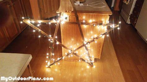 diy stick star  lights myoutdoorplans