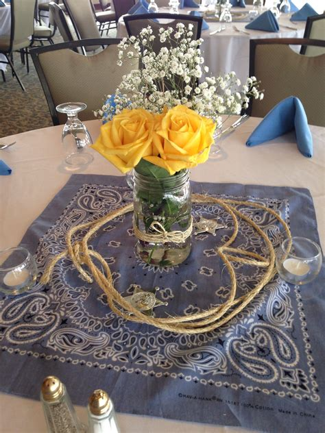 Rustic Western Themed Center Piece Baby Shower Pinte