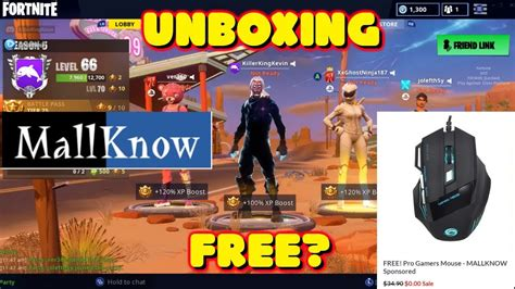 Mallknow Free Fortnite Gaming Mouse Unboxing And Review