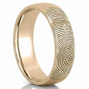 fingerprint wedding band men39s fingerprint on outside of With wedding ring with fingerprint