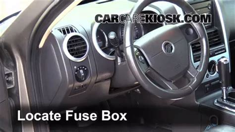 interior fuse box location   mercury mountaineer