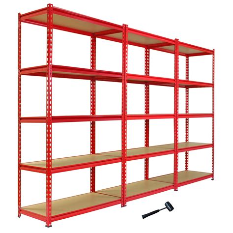 garage shelving unit 3 garage shelving racking 90cm storage units heavy duty