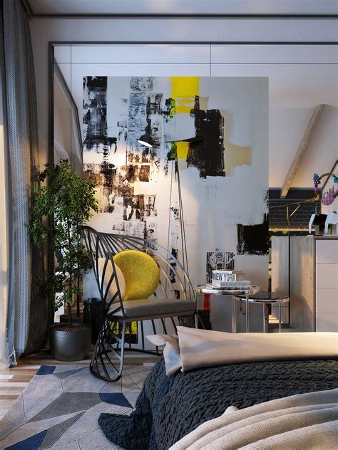 6 Creative Bedrooms With Artwork And Diverse Textures by 6 Creative Bedrooms With Artwork And Diverse Textures