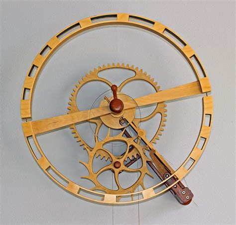 simple wooden clock plan plans diy   slant top