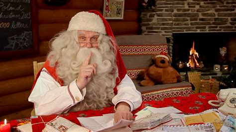 santa claus video message  children  lapland finland