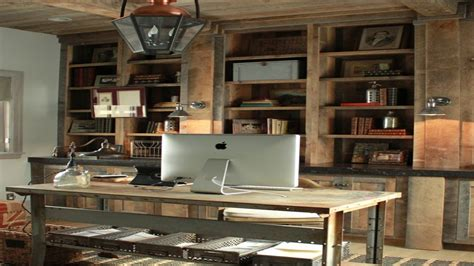 Cool Office Desk Ideas, Rustic Texas Home Office Designs