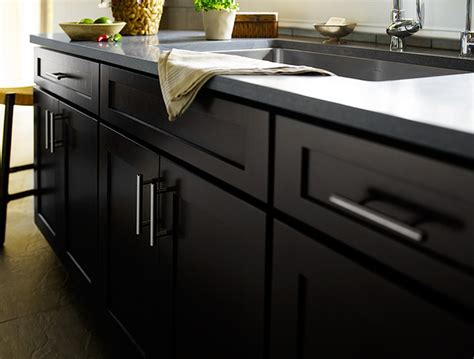 Cabinet Hardware Minneapolis by Black Kitchen Cabinets Dayton Door Style Cliqstudios