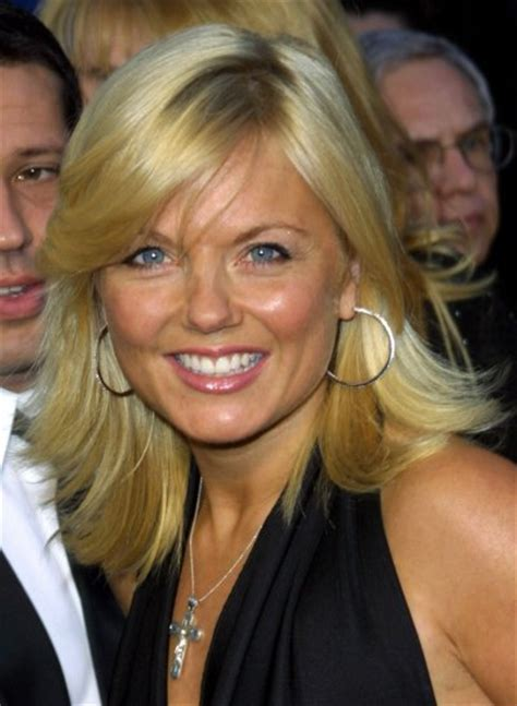 geri halliwell long springy  dynamic hairstyle