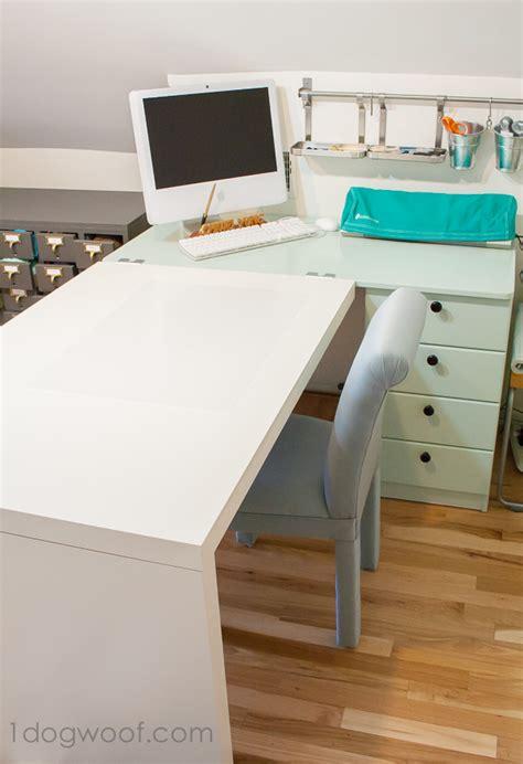 ikea expedit desk an ikea craft desk makeover one woof