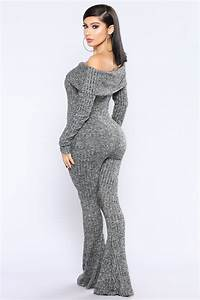 Cold As You Sweater Jumpsuit - Black