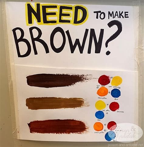 what paint color makes brown which colors combine to make brown quora