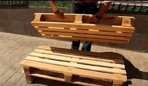 Fabriquer Un Banc De Jardin Original : il fabrique un joli meuble pour le jardin avec une seule palette de bois tr s facile ~ Melissatoandfro.com Idées de Décoration