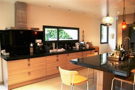 cuisine noir plan de travail bois lapeyre cuisine avis 3 decoration cuisine bois et plan