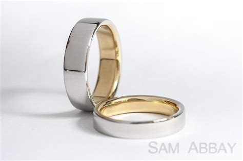 Golden Platinum by Rings With Liners New York Wedding Ring