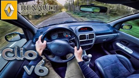 renault sport clio   phase  pov test drive youtube